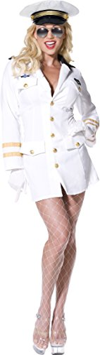 Top Gun 80s Movie Officer Costume for Women. Sizes 4 to 18