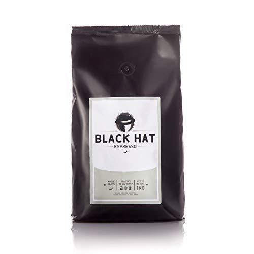 BLACK HAT ESPRESSO - mehr als Premium Espressobohnen - stark & säurearm, 250 g. ganze Bohnen für Vollautomaten & Siebträger