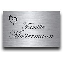 Hausnummer Namensschild mit Gravur und Motiven aus Acrylglas ab 21x10cm Geschenkidee T/ürschild f/ür die Haust/ür mit Namen