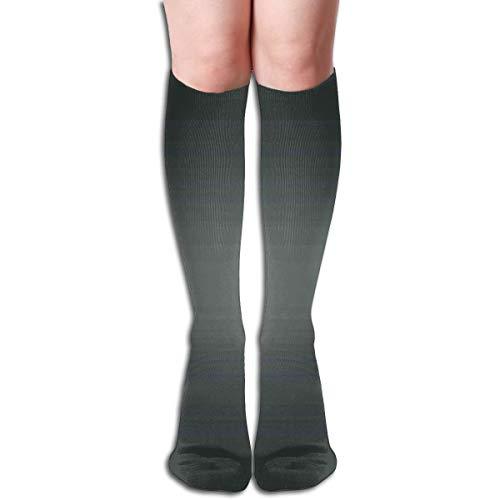 BBABYY Compression Socks Graduated Stockings For Men & Women,Fume Fog Dark Smoke Industry Theme Inspired Dark Gray Colored Modern,Prevents Swelling,Travel,Everyday Use - Usa Industries Starter