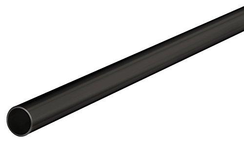 Schwarze Kleiderstange (Gedotec Schrankrohr Metall Kleiderstange RUND Schrank-Stange 2500 mm Seiten-Wandmontage | Stahl schwarz beschichtet | Möbelrohr Ø 18 mm | 1 Stück - Möbelstange für die Garderobe & Kleider-Schrank)