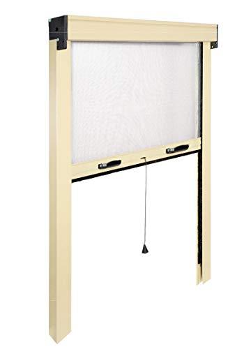 I.R.S. Moustiquaire Fine Vertical Store Enrouleur à Ressort. en Aluminium Verni. réductible de 20 - 25 cm au Maximum.