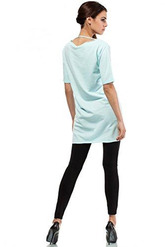 MOE Blusa sportiva con cappuccio Verde Menta