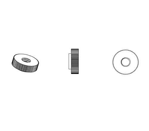 ajile - 20 Stücke - Rändelmutter - M5 | Länge L = 16 mm | SCHWARZ PA6.6 Polyamid Plastik Nylon - Isolierend
