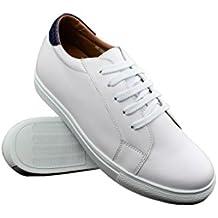 1027621f95 Amazon.es  zapatos con alzas para hombres - Blanco