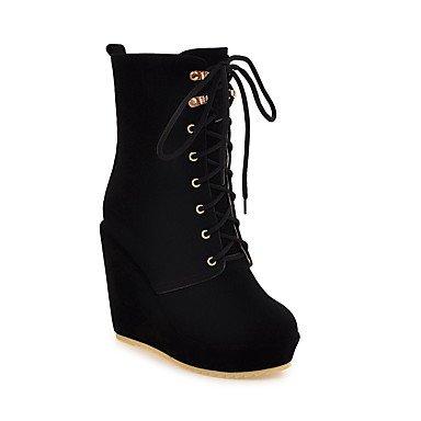 Rtry Femmes Chaussures Polaire Automne Hiver Mode Bottes Talon Talon Bottes Bottillons / Bottines Casual Wear Beige Marron Noir Us8 / Eu39 / Uk6 / Cn39