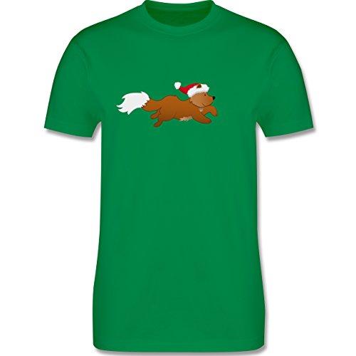 Weihnachten & Silvester - Weihnachtsfuchs - Herren Premium T-Shirt Grün