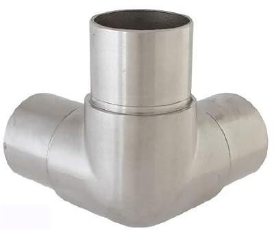 Edelstahl Eckverbinder Fitting für Rohr 33,7 x 2,0 mm - V2A (S015110) von Edelstahldiscounter - Du und dein Garten
