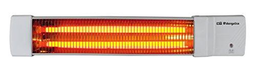Orbegozo BB 5002 - Estufa para baño, 2 niveles de potencia, 2 barras de cuarzo, 1200 W