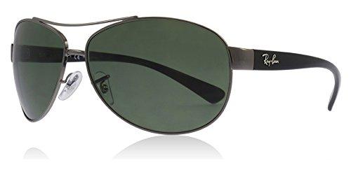 Ray-Ban RB3386 004/9A Gunmetal/Black RB3386 Aviator Sunglasses Polarised Lens