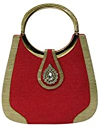 Deepsum Hand Crafted Hand-held Jute Clutch Bag Specially Designed For Women & Girls In Parties/Wedding/festivals...