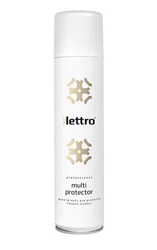 Lettro Multi Protector Imprägnierspray für Leder - Pflege-Spray zum Schutz für Glattleder - Schützt Wildleder und Nubuk und ist Ideal für Schuhe und Jacken, 400 ml