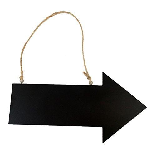 VORCOOL Panel de Cuadro de Madera de Flecha Colgantes Cuadro Regalo de ahorcamiento Cremallera (Negro)