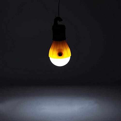 ArgoBar Weiches Licht im Freien hängenden LED Camping Zelt Glühbirne Angeln Laterne Lampe (Farbe: orange) - Hängenden Laternen Freien Im