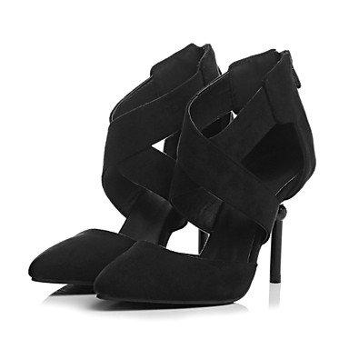 Ch & Tou Femmes-sandales-loisirs Bureau Et Travail Formel Décontracté Soirée Et Soirée-a L'esclave Club Chaussures-a Stiletto-faux Cuir-noir Beige Noir