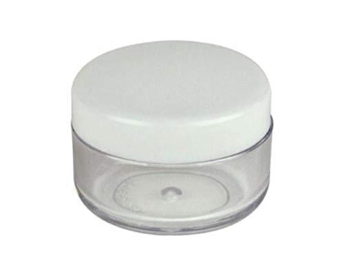 25 x 15 ml transparente runde Kunststoff-Creme-Flaschenbox mit Schraubverschluss Emulsionsmaske Pulver Dosierglas tragbar DIY Kosmetik Gesichtsbehandlungen Kosmetik-Halter für Reisen und Alltag