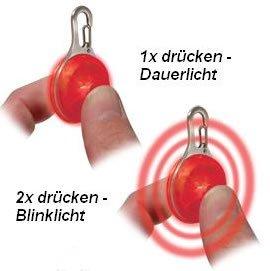 LED Leuchtanhänger Leuchthalsband Led Hundehalsband in ROT von der Marke PRECORN - 2