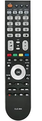 ALLIMITY CLE-984 Télécommande remplacée pour Hitachi TV L26H01E L32A01 L32A01A L32H01 L32H01E...