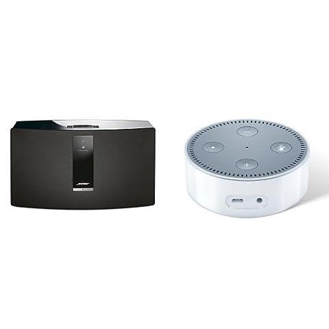 Bose SoundTouch 30 Series III kabelloses Music System schwarz + Amazon Echo Dot (2. Generation), Weiß