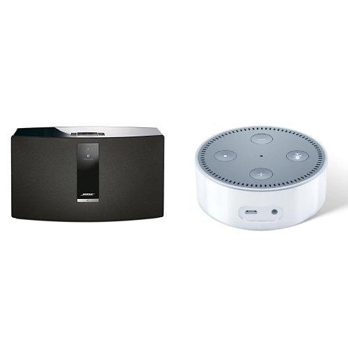 Bose® SoundTouch 30 Series III kabelloses Music System schwarz und Amazon Echo Dot (2. Generation) weiß (Music Ii System Bose)