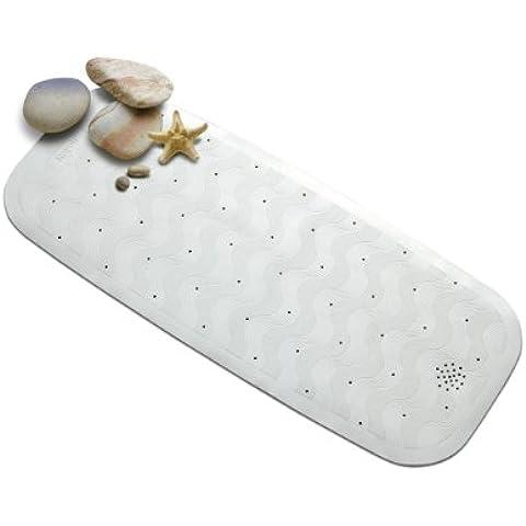 Rayen 2325 - Alfombra antideslizante para baño, con ventosas, de caucho, 35 x 74 cm