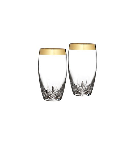 Lismore Highball (Waterford Lismore Essence Wide Gold Band Highball Glass, Pair by Waterford)
