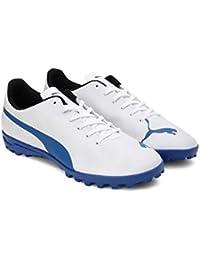 Puma Unisex's Rapido Tt Jr White-Royal Blue-Light Football Shoe