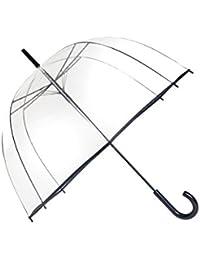 SMATI Parapluie transparent - cloche / dome transparent - ouverture automatique - 8 baleines en acier
