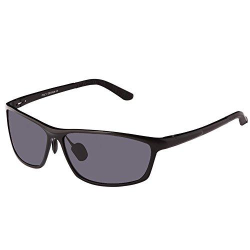DUCO Herren Sport-Art polarisierte Sonnenbrille Treiber Brille 2179S (Schwarz)