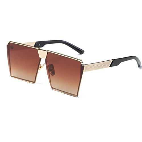 egelmäßigkeit Rahmen Gläser Rosennie Frauen Männer Vintage Retro Brille Unisex Mode Aviator Spiegel Objektiv Reise Sonnenbrillen Klassische Damen Sommer Feiertag Glasses (B) (Womens 80er Mode)