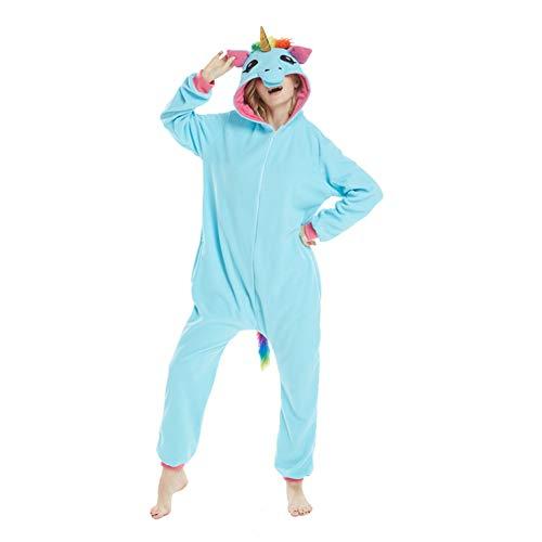 YLOVOW Unisex Kostüm Christmas Als Pyjama Oder Verkleidung Verwendbar, Für Erwachsene Geeignet, Kigurumi-Stil,M