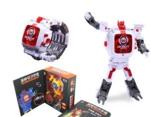 Toy Watch Transformers Spielzeug Kinder 2 in 1 Elektronische Transformatoren Spielzeug Uhr Deformierte Roboter Manuelle Transformation Roboter Spielzeug Kinder Geschenk 3-6 Alter (Weiß, OneSize)