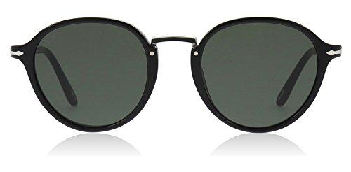 Persol Herren 0Po3184S 95/31 49 Sonnenbrille, Schwarz (Black/Green),