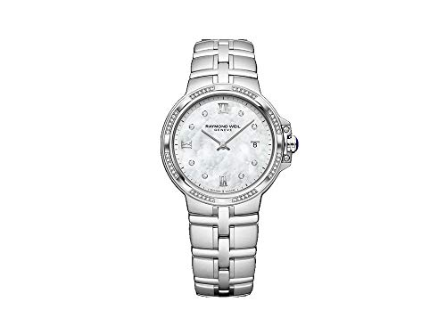 Montre à Quartz Raymond Weil Parsifal Ladies, Nacre, Jour, 56 Diamants