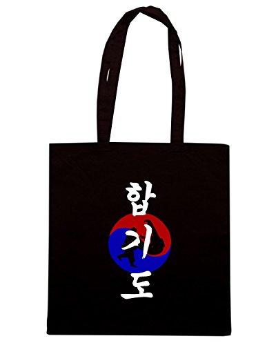 T-Shirtshock - Borsa Shopping TAM0094 korean hapkido dark tshirt Nero