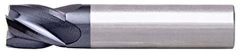 Alfa Tools SCS60649AL 3/8 4 Flute Single End Center Cutting AlTiN Carbide Stub End Mill Made In USA,