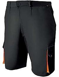 Misemiya ® Pantalón Corto DE Trabajo MULTIBOLSILLO Uniforme Laboral Industrial Taller MECÁNICO Técnico Fontanero Albañil Ref.8721