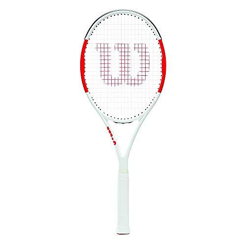 Wilson Raqueta de tenis unisex, Para juego en toda la pista, Para jugadores expertos, Six.One Team 95, Medida 3, Rojo/Blanco, WRT73640U2