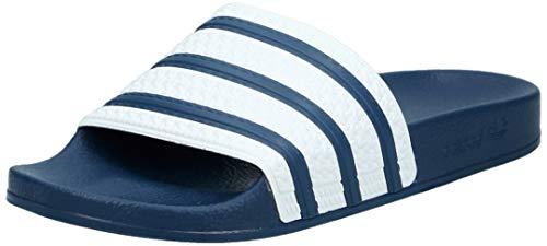 Adidas adilette ciabatte unisex - adulto, blu (adiblue g1/white/adiblue g1), 42 eu