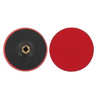 FD-Workstuff® Klett-Schleifteller Ø 125 mm mit M14 Aufnahme und Spanndorn für Bohrmaschine Schleifpapierteller