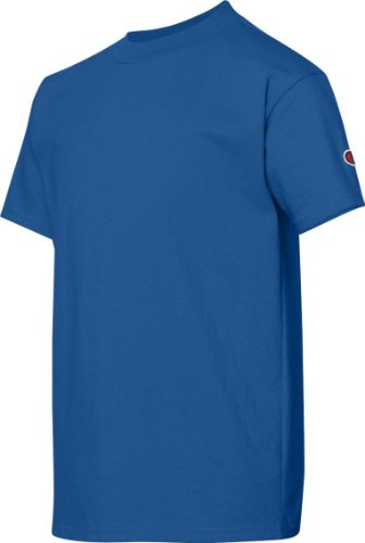 Youth Jersey Tee Dark Grün S Champion Youth weitem Halsausschnitt, Jersey Tee Blau - Königsblau