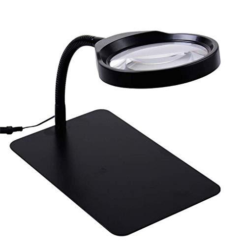 Unbekannt Beleuchtete Desktop 10x Lampe Mit Led-Licht Lupe Tischlampe Beleuchtung Reparatur Gravur Ältere Kinder Lesen Hd Lupe