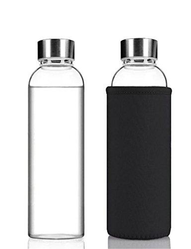 Alta calidad medioambiental NYKKOLA elegante botella de agua de vidrio