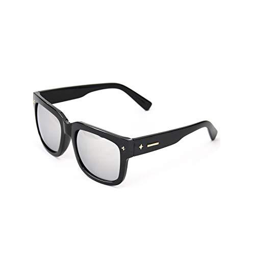 SUNGLASSES Retro-Männer Sonnenbrille Flut koreanische Version der Star Frame schwarz Ultra-polarisierten Fahren Sonnenbrille weibliche Brille (Farbe : Water Silver)