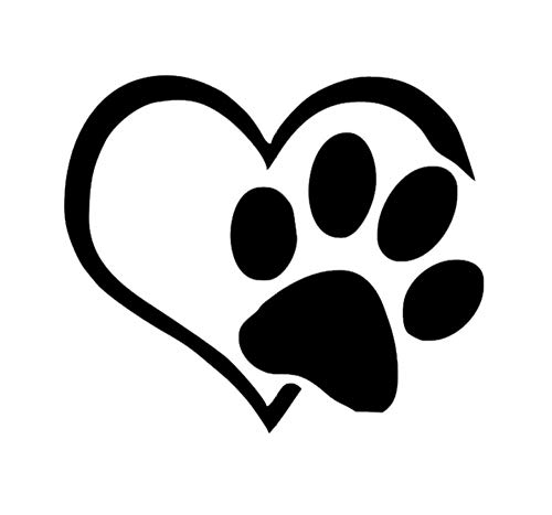 Neuartig Herz Pfote Vinyl Aufkleber Auto Aufkleber Motorhaube Fenster Aufkleber Abdeckung Katze Hund Fußabdruck Auto Styling/3PCS (Auto-fenster-aufkleber Hunde)