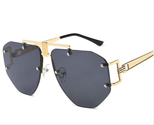 shengbuzailai Randlose Sonnenbrille Männer Frauen Mode Unregelmäßige Weiblich Männlich Brillen Shades Vintage Glasses 2