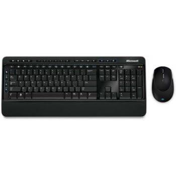 Microsoft Wireless Desktop 3000 RF Wireless Schwarz Tastatur - Tastaturen (RF Wireless, Schwarz, Maus enthalten)