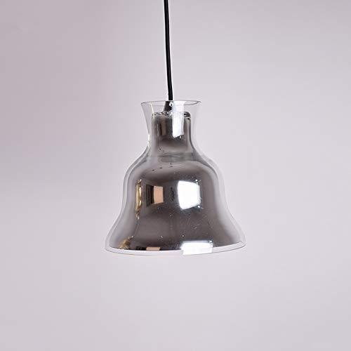 Modenny Post Moderne Glas Pendelleuchten Gold Glocke Hängende Lampe Für Esszimmer Schlafzimmer Küche Hause Leuchten Leuchte E27 (Color : Silver) -