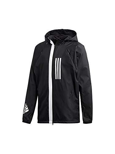 adidas Performance Wind Fleece Kapuzenjacke Herren schwarz/weiß, S Performance-fleece