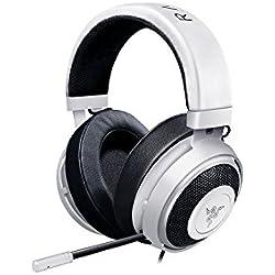 Razer Kraken Pro V2: Bandeau en aluminium léger - Micro rétractable - Télécommande en ligne - Le casque de jeu fonctionne avec les appareils PC, PS4 et mobiles - Blanc